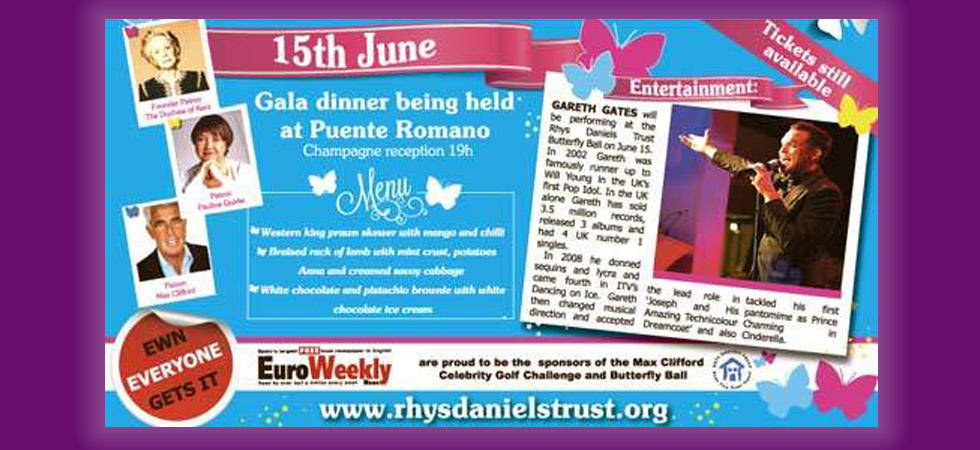 The BUtterfly Ball in aid of The Rhys Daniels Trust